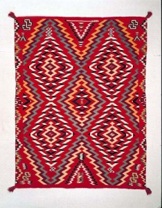 Germantown textile, Navajo, ca. 1885-1900, E2950