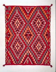 Germantown textile, Navajo, ca. 1885-1900, E2950