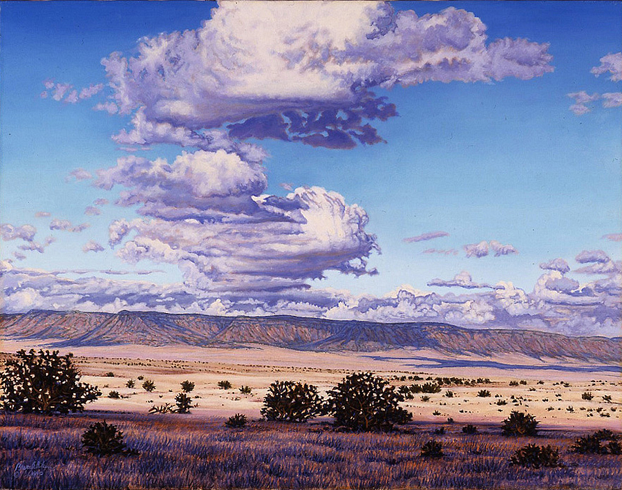 Bruce Aiken, Coconino Skyway, 1990, oil on canvas, 22 x 28 inches. MNA Fine Arts Collection.
