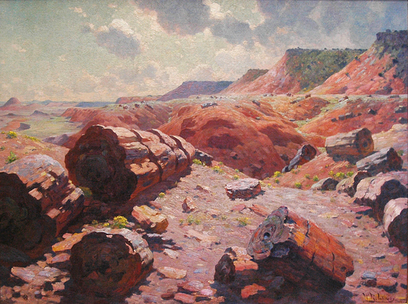 William Robinson Leigh, Petrified Forest. MNA Fine Arts Collection #IL2009-1-1.