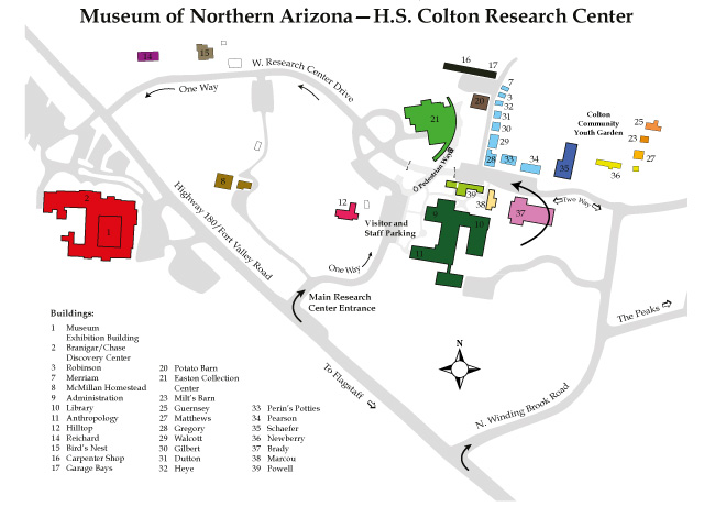 Map Of Arizona Please.Buildings Campus Museum Of Northern Arizona