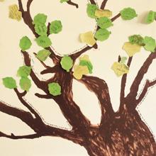 Child's Tree Painting