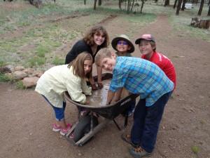 Arch kids in mud
