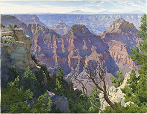 Grand Canyon from the North Rim, 1924, watercolor, 21 1/2 x 27 5/8 inches (54.5 x 70 cm)