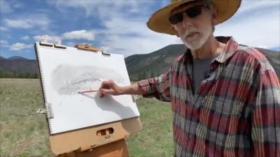 Landscape drawing lesson