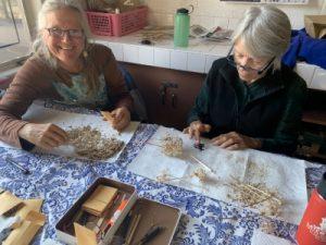 Seed sorting volunteers