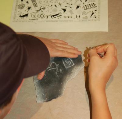 Making rock art